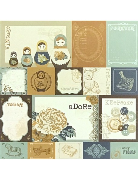 "Fair Paper - ""Hidden Treasures"", Kaisercraft"