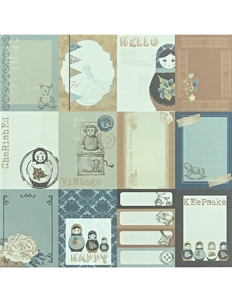 "Emporium Paper - ""Hidden Treasures"", Kaisercraft"