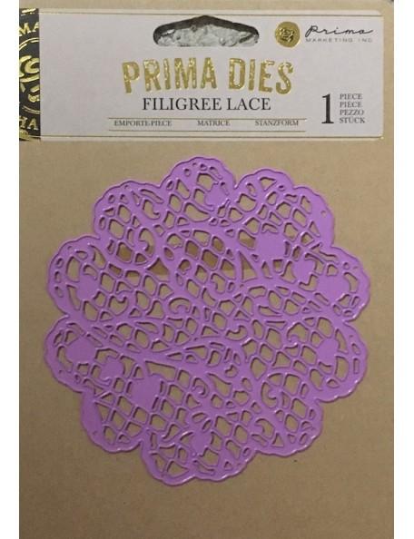 Prima Marketing Purple Metal Troquel, Filigree Lace