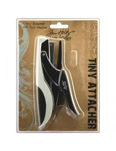 "Idea-Ology Tiny Attacher Stapler W/(100) .25"" Staples"