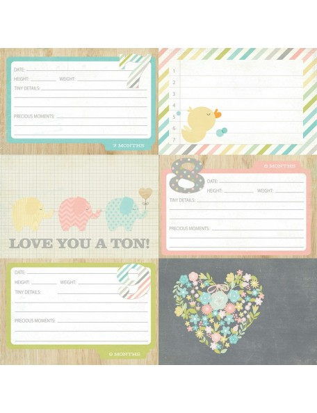"Simple Stories Hello Baby, 4""x6"" Horizontal Journaling Card"