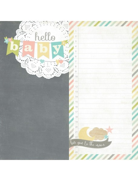 "Simple Stories Hello Baby, Page Elements 2 6""x12"""