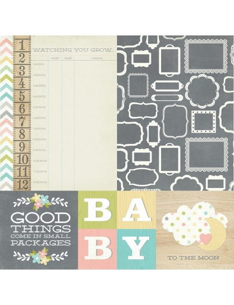 "Simple Stories Hello Baby Elements, 4""X4"" Quotes & 6""X8"" Photo Mats"