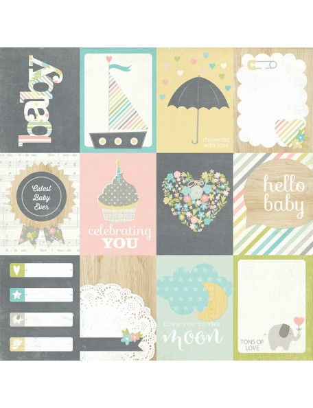 "Simple Stories Hello Baby, 3""x4"" Journaling Card Elements"