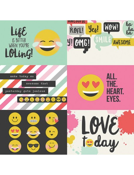 "Simple Stories Emoji Love Elements, 4""X6"" Horizontal Journaling Cards"