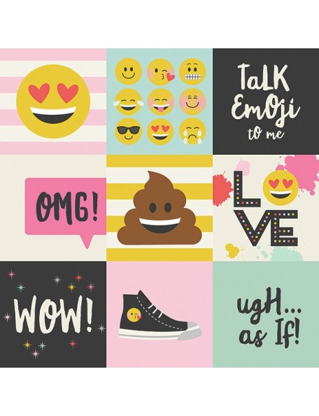 "Simple Stories Emoji Love Elements, 4""X4"" Journaling Cards"