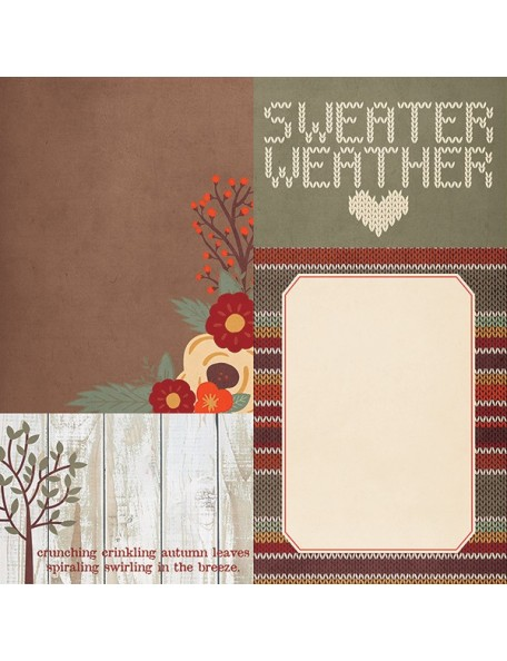 """Simple Stories Sweater Weather Elements, 4""""X6"""" & 6""""X8"""" Journaling Cards"""