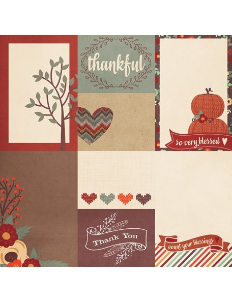 """Simple Stories Sweater Weather Elements, 3""""X4"""" & 4""""X6"""" Journaling Cards"""