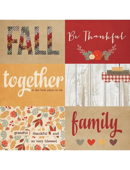 """Simple Stories Sweater Weather Elements, 4""""X6"""" Horizontal Journaling Cards"""