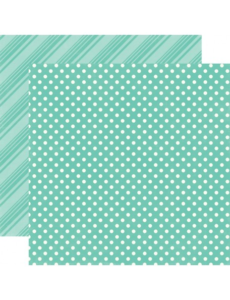 Echo Park Dots & Stripes Brights, Teal