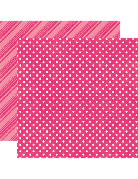 Echo Park Dots & Stripes Brights, Hot Pink