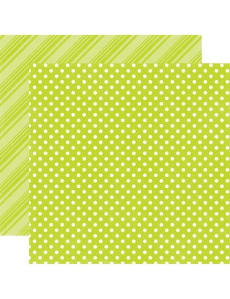 Echo Park Dots & Stripes Brights, Lime
