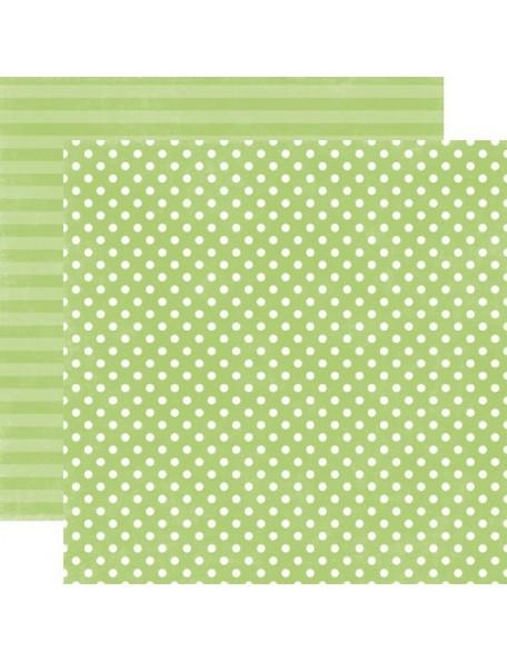 Echo Park Dots&Stripes Neapolitan, Lime Sherbet Small Dot