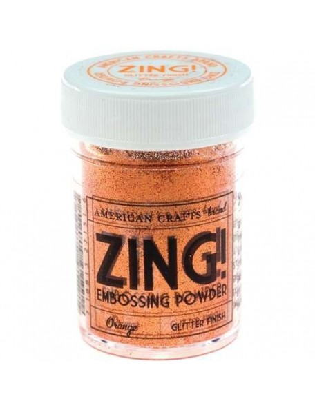 American Crafts Zing! Glitter Embossing Powder 1Oz Orange