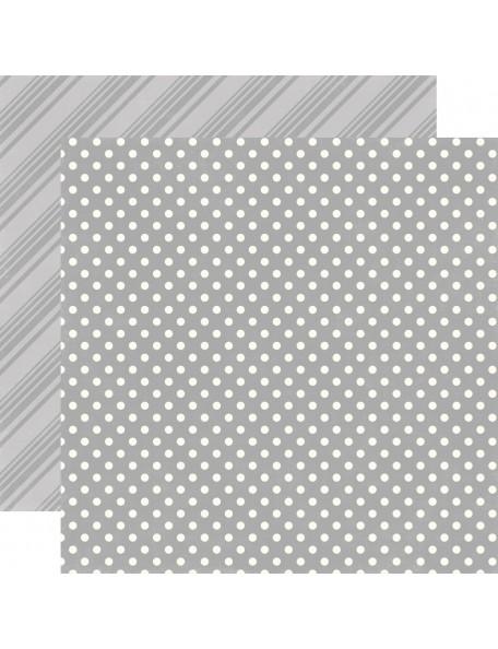Echo Park Dots&Stripes Neutrals, Grey