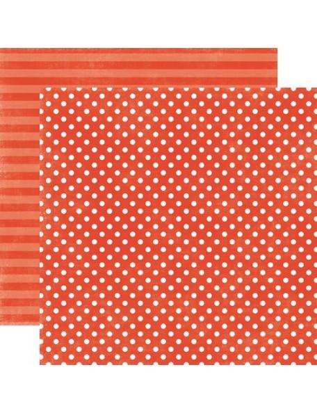 Echo Park Dots&Stripes Jewels, Garnet Small Dot