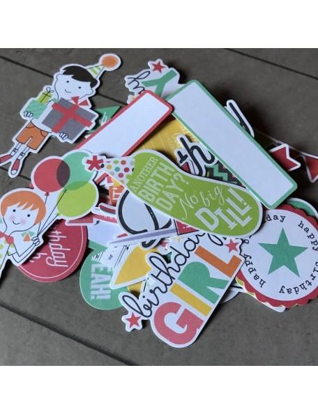Simple Stories Let's Party Bits & Pieces Cardstock Die-Cuts 62