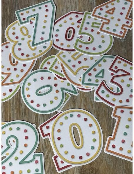 Simple Stories Let's Party Pocket Pieces Die-Cuts 20 Numbers