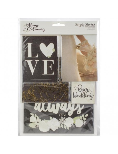 Simple Stories Always & Forever Sn@p! Card Pack 48