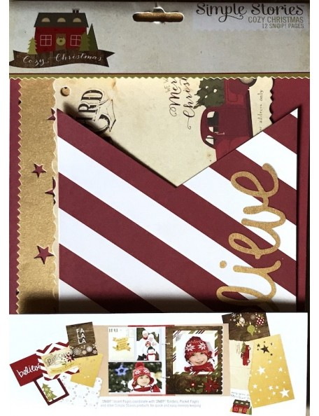 """Simple Stories Cozy Christmas Sn@P! Journal Pages 6""""X8"""""""