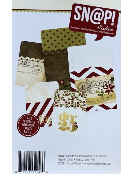 "Simple Stories Cozy Christmas Sn@p! Memorabilia Pockets 5 (2) 4""X6"" & (3) 3""X4"""