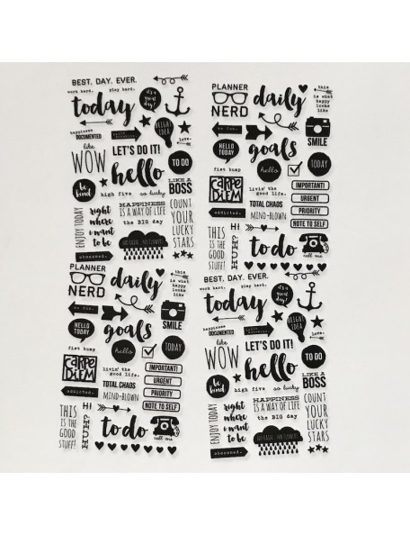 "Simple Stories Carpe Diem Clear Stickers 4""X6"" 4"