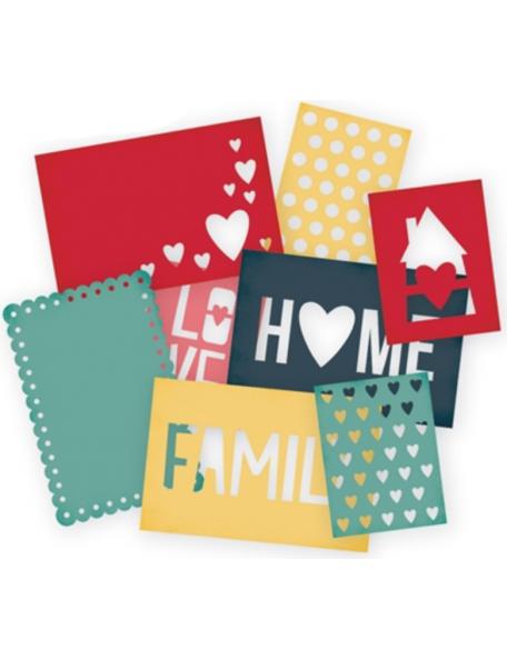 "Simple Stories Sn@p! Cuts 8 Homespun (4) 4""X6"" & (4) 3""X4"""