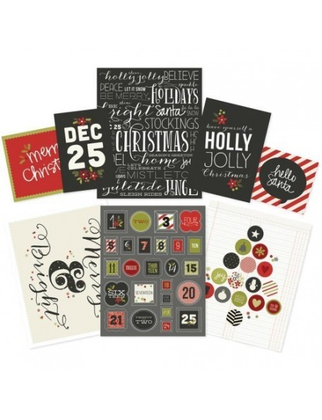 "Simple Stories DIY Christmas Frameables Cardstock Prints 12 (4) 8""X10"", (2) 5""X7"" & (2) 4""X6"""