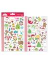 Dooblebug Mini Cardstock Stickers 2, Christmas Town Icons