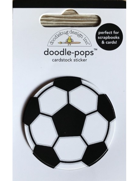Doodlebug Doodle-Pops 3D Stickers Goal!! Soccer Ball