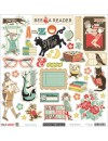 """October Afternoon Public Library Cardstock Stickers 12""""X12"""" Shape"""