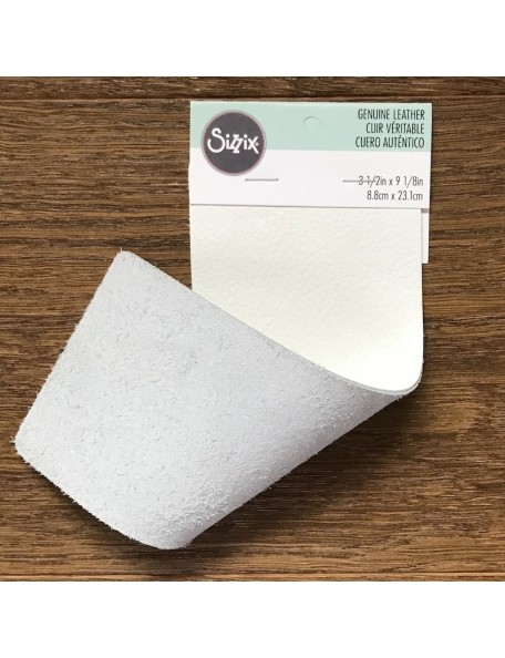 "Sizzix Cowhide Leather 3""X9"" White"