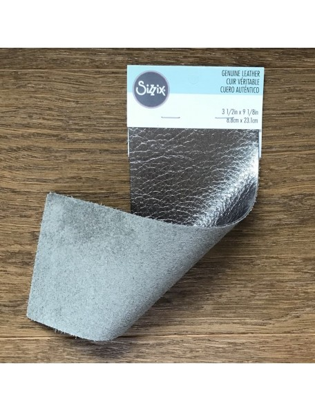 "Sizzix Metallic Cowhide Leather 3""X9"" Gunmetal"