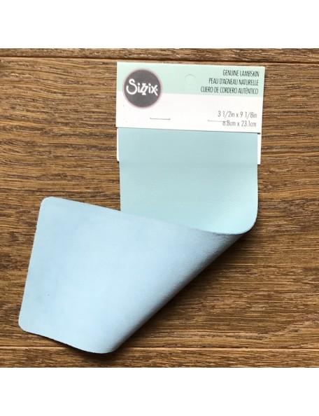 "Sizzix Lambskin Leather 3""X9"" Powder Blue"