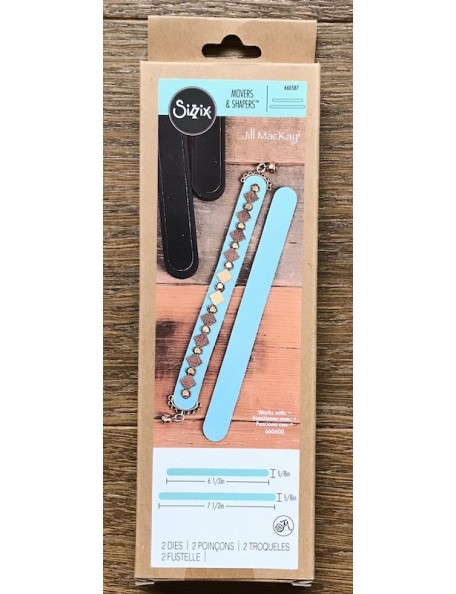 Sizzix Movers & Shapers Magnetic Dies By Jill MacKay Leather Bracelets 2/Set