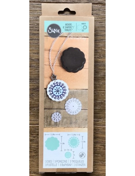 Sizzix Movers & Shapers Magnetic Die W/Thinlits By Jill Mac Lotus Flower Stack
