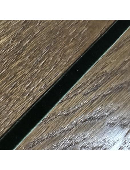 SATWA Verde Oscuro Cinta Elastica Terciopelo 1 cm ancho/0,50 cm