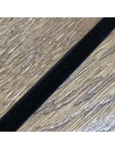 SATWA Negro Cinta Elastica Terciopelo 1 cm ancho/0,50 cm
