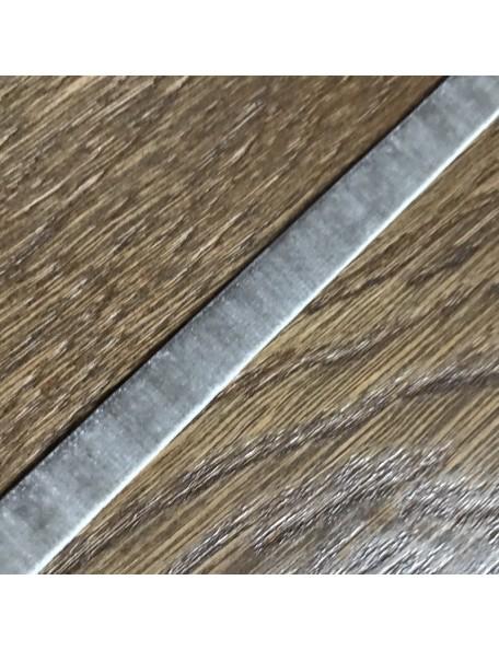 SATWA Gris Cinta Elastica Terciopelo 1 cm ancho/0,50 cm