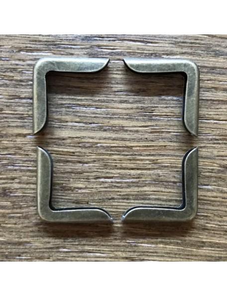 SATWA Esquineras Color Bronze 4 unid., 1,5x1,5cm