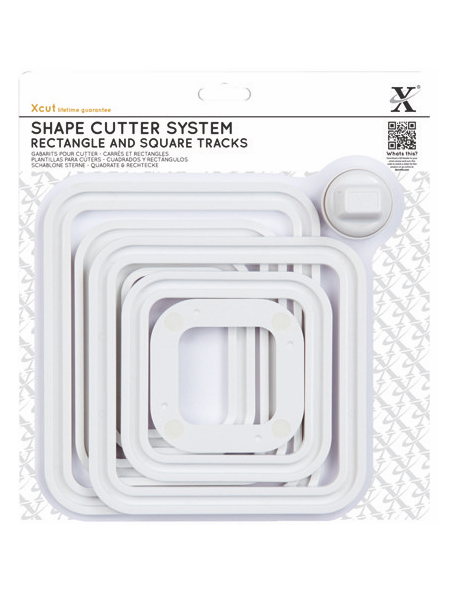 Xcut Shape Cutter System/Cutter Carriage 7pcs Square & Rectangle Tracks