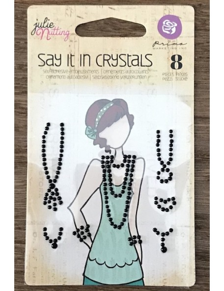 Prima Marketing Julie Nutting Mixed Media Say It In Crystals Embellishments Negro