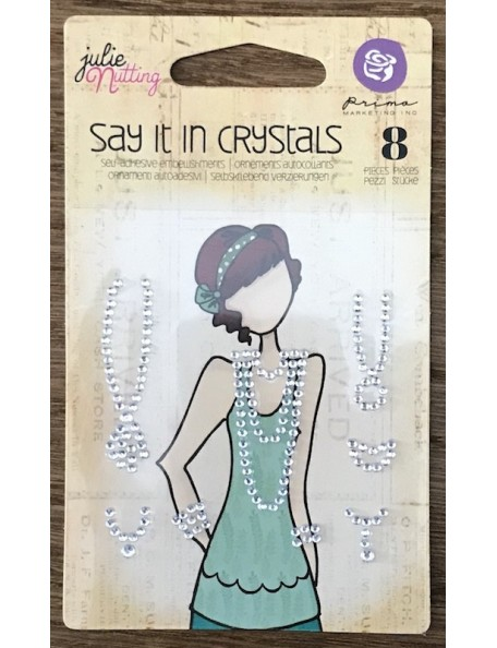 Prima Marketing Julie Nutting Mixed Media Say It In Crystals Embellishments Clear