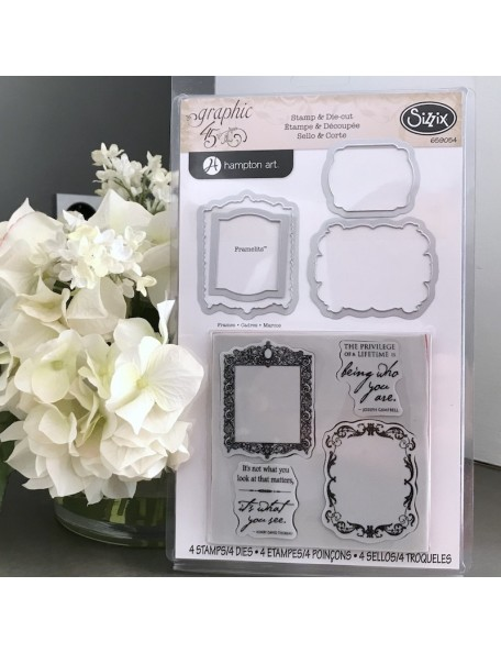 Sizzix Cuadros Framelits & Sello By Graphic 45