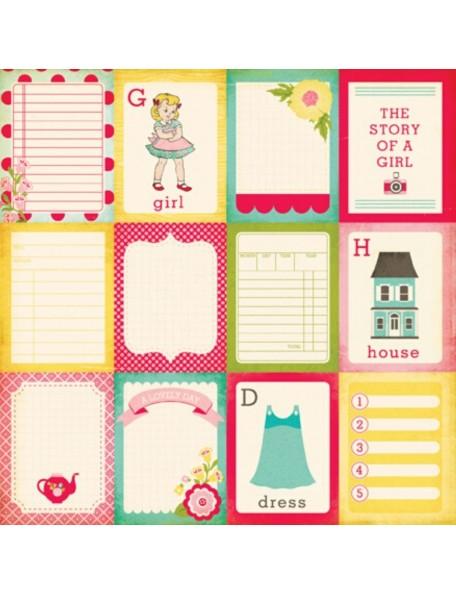 "Echo Park Sweet Girl, 3x4"" Journaling Cards"