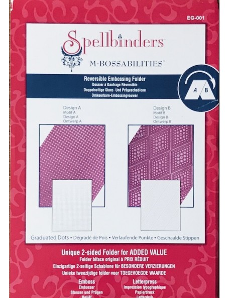 Spellbinders M-Bossabilities A4 Paper Embossing Folder Graduated Dots