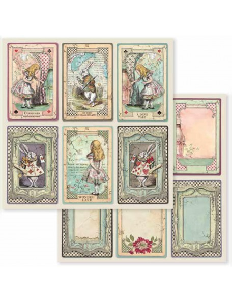 Stamperia Alice Cards SBB584