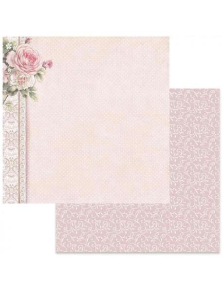 Stamperia Polka Dots W/Pink Border SBB625