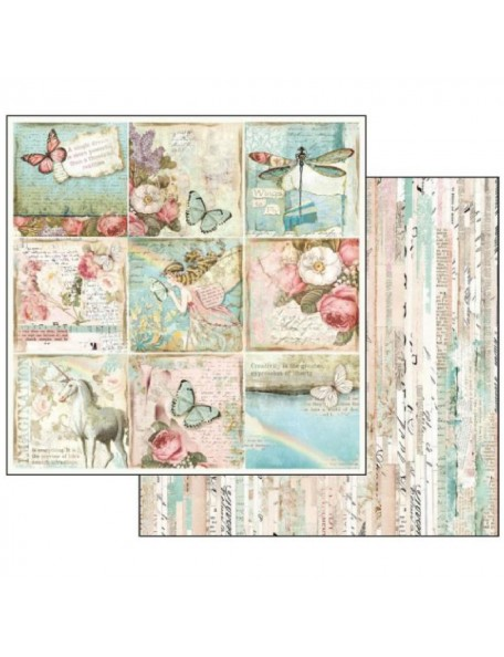 Stamperia Wonderland, Butterflies & Unicorn Cards SBB536