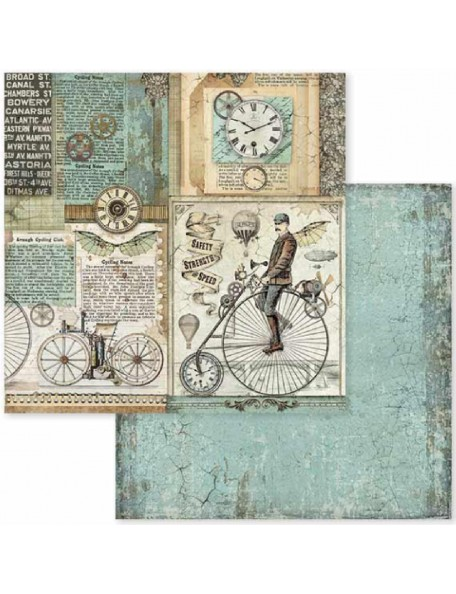 Stamperia Voyages Fantastiques Retro Bicycle SBB602